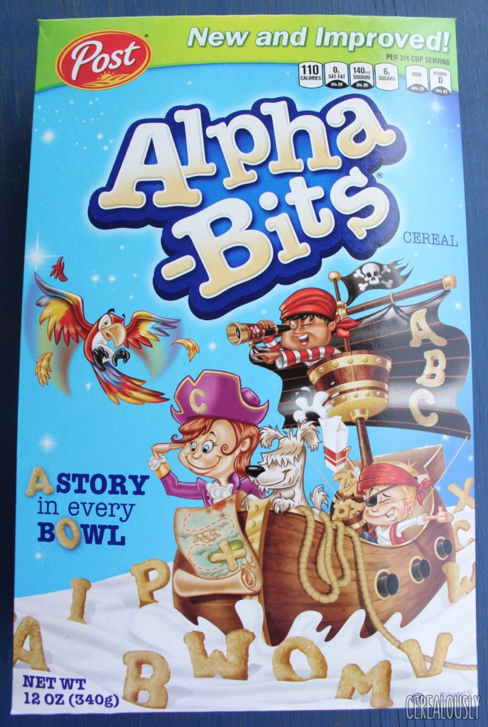 Post New and Improved Alpha-Bits Cereal Box Review