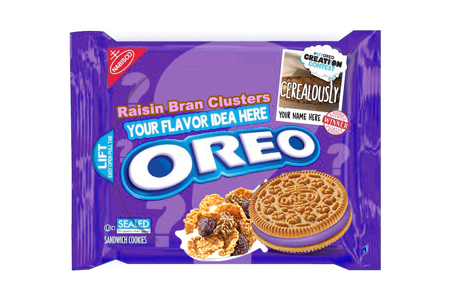 Fake Raisin Bran Oreo Cookies