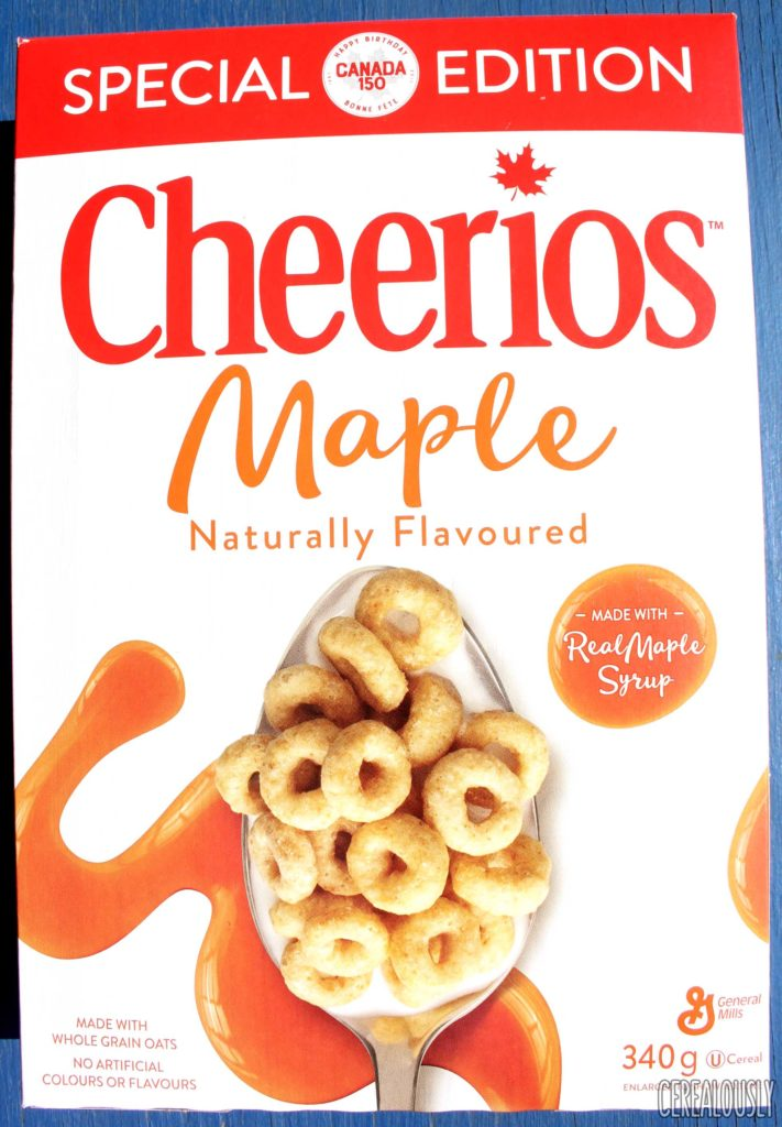 General Mills Special Edition Canadian Maple Cheerios Cereal Review Box
