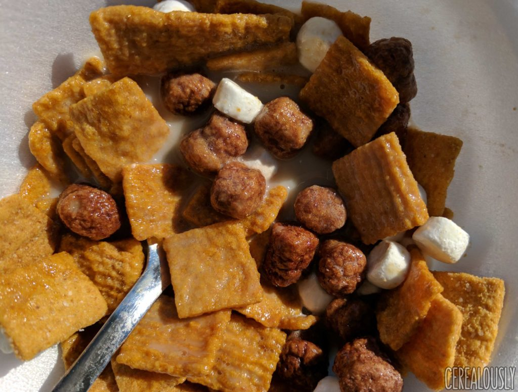 Post Honey Maid S'mores Cereal Review with Milk