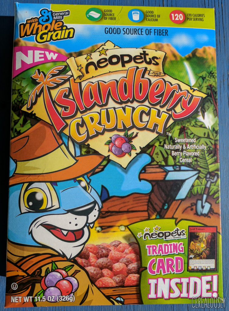 Neopets Islandberry Crunch Cereal Box 2006