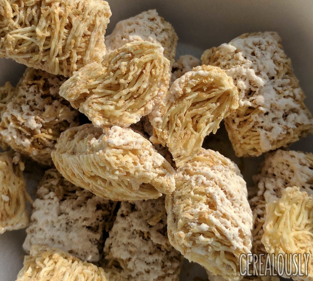 """Post Frosted Cinnamon Roll Shredded Wheat Cereal Review """"Vanilla Chips"""""""