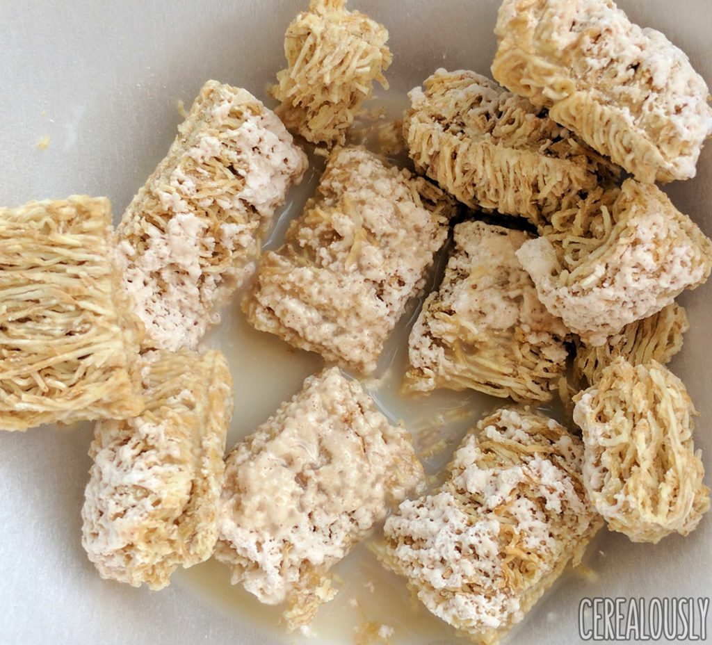 Post Frosted Cinnamon Roll Shredded Wheat Cereal Review with Milk