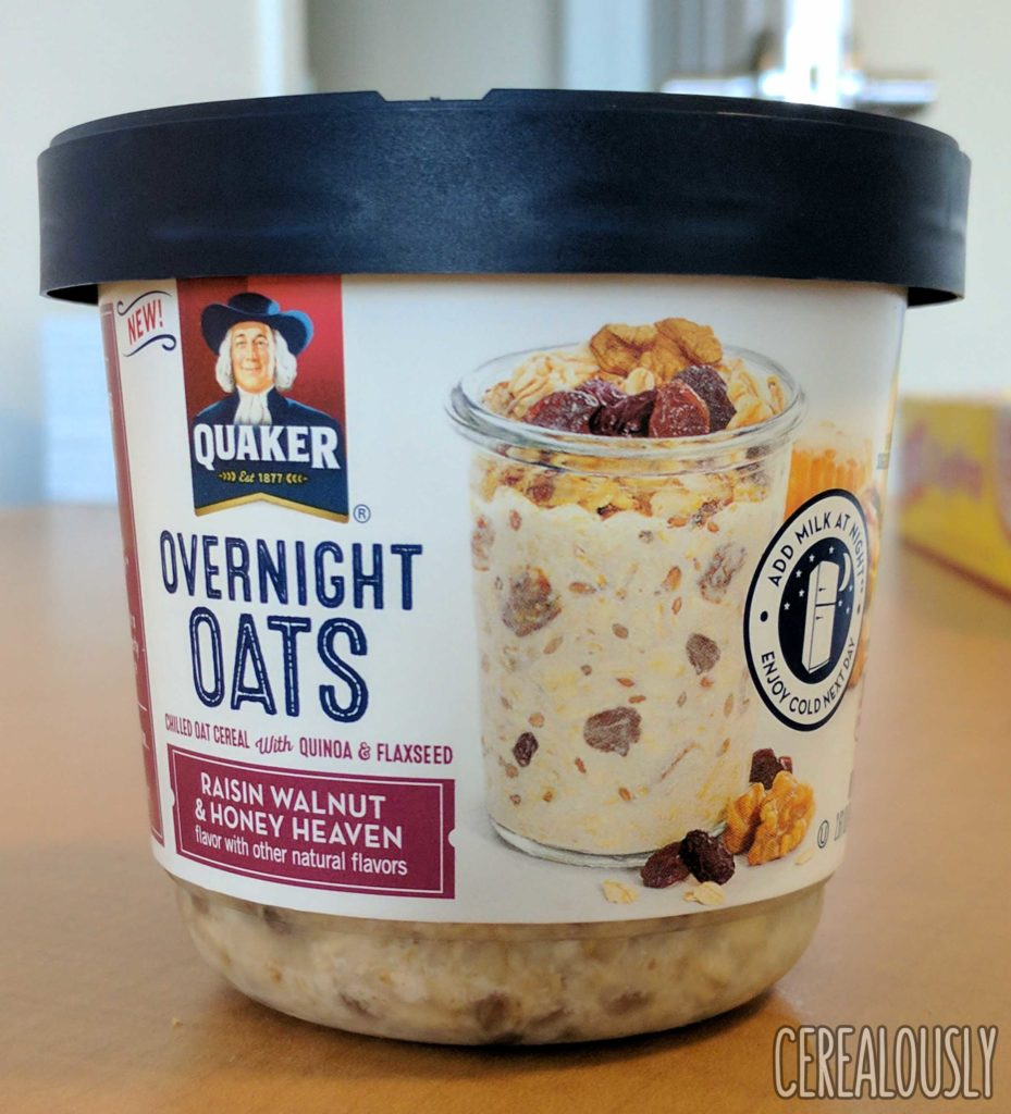 Quaker Overnight Oats – Raisin Walnut & Honey Heaven – Cup