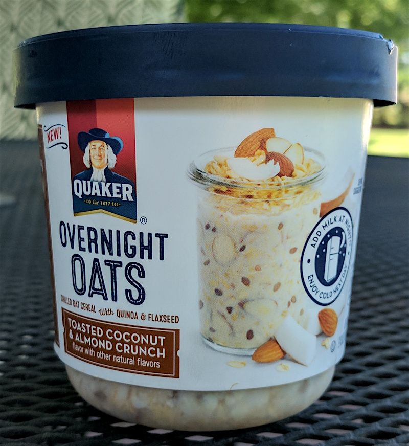 Quaker Toasted Coconut & Almond Crunch Overnight Oats Review – Cup