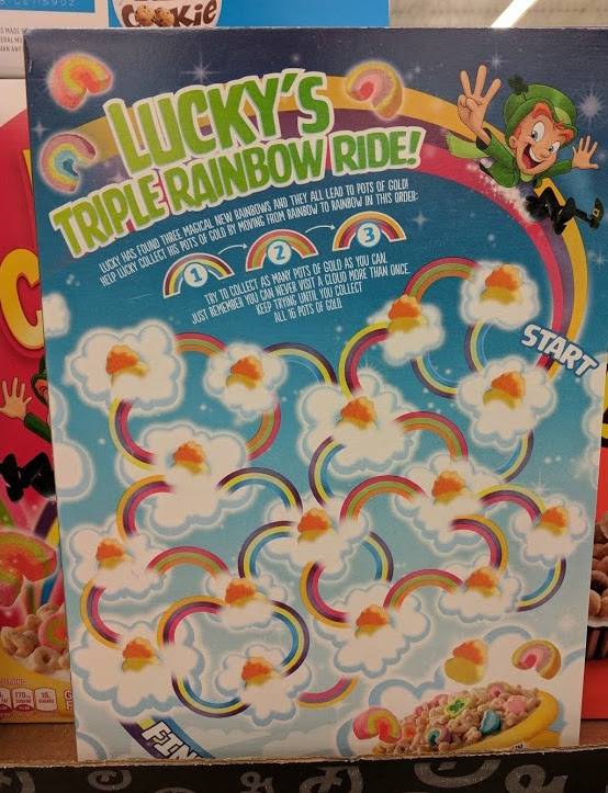 Lucky Charms Three New Rainbows Box Back
