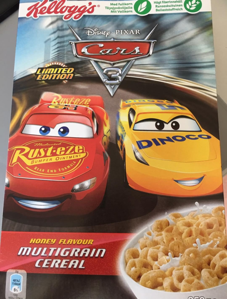 Cars 3 Cereal