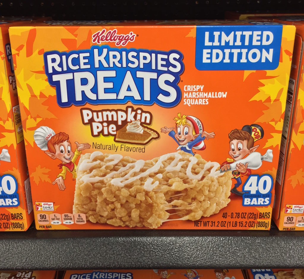Kellogg's Limited Edition Pumpkin Pie Rice Krispies Treats Box