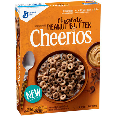 Chocolate Peanut Butter Cheerios Cereal Box