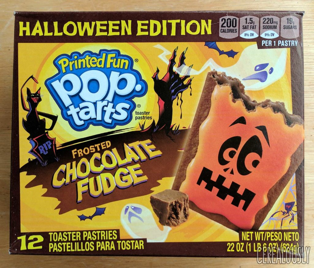 Kellogg's Halloween Edition Printed Fun Chocolate Fudge Pop-Tarts Review – Box