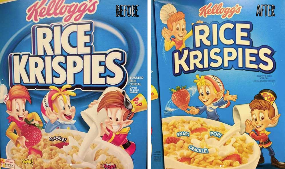 New Rice Krispies Cereal Snap, Crackle, and Pop Designs