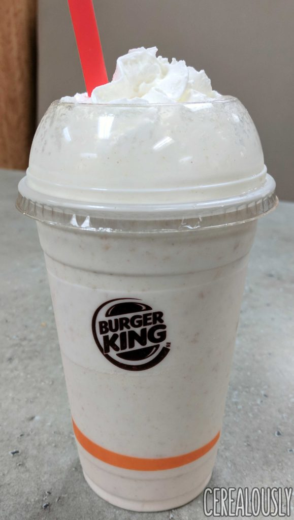 Burger King Cinnamon Toast Crunch Shake Cereal Milkshake Review
