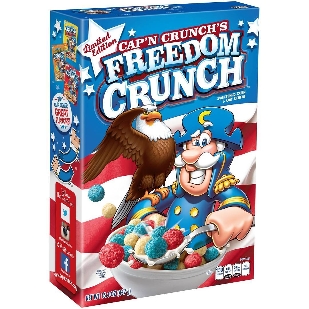 News: Cap'n Crunch's Freedom Crunch Is Coming Soon, For