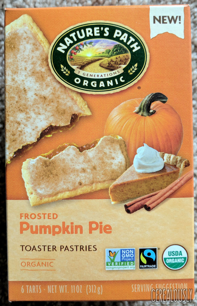 Nature's Path Organic Frosted Pumpkin Pie Toaster Pastries Review Box