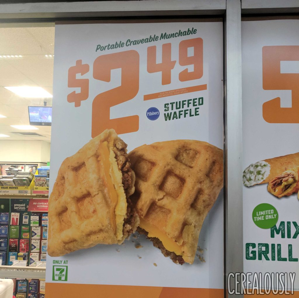 Pillsbury 7-11 Stuffed Waffle Review Sign