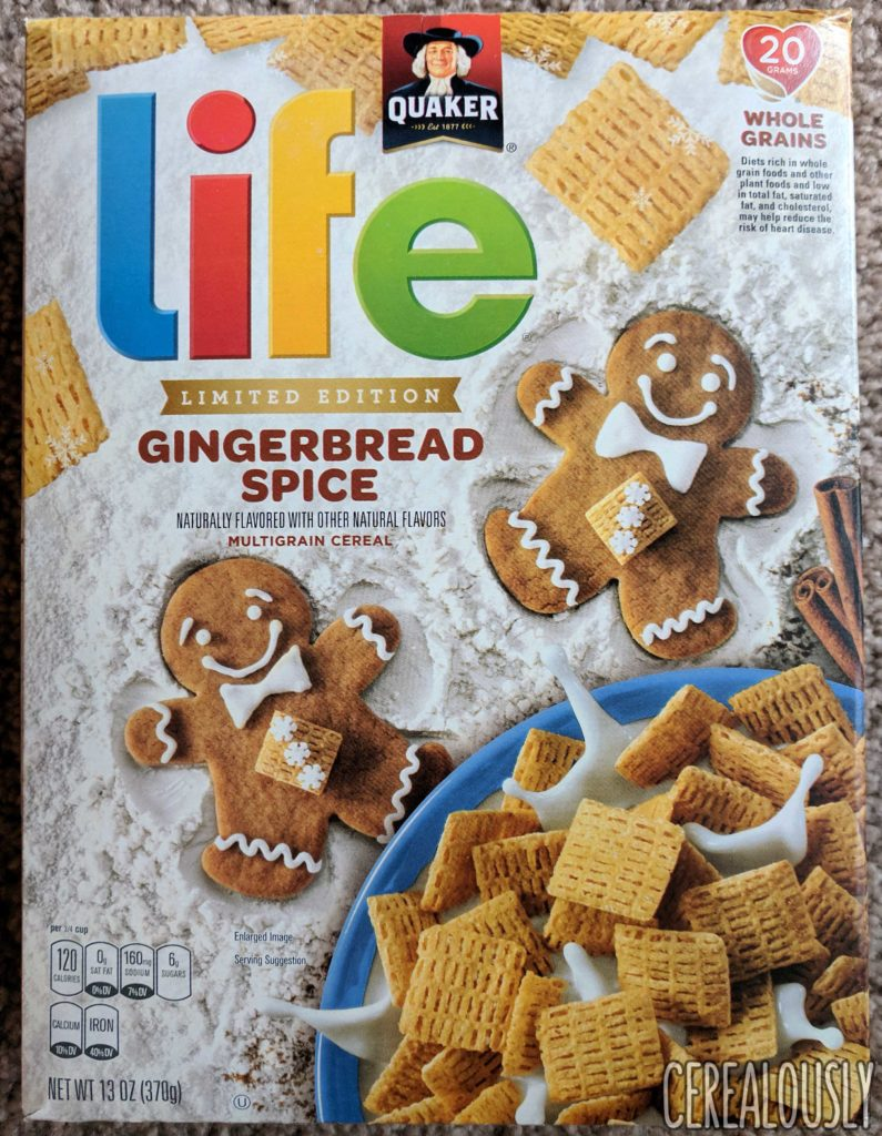 Quaker Gingerbread Spice Life Cereal Review – Box
