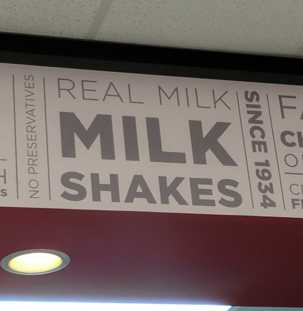 Steak 'n Shake Milkshake Sign