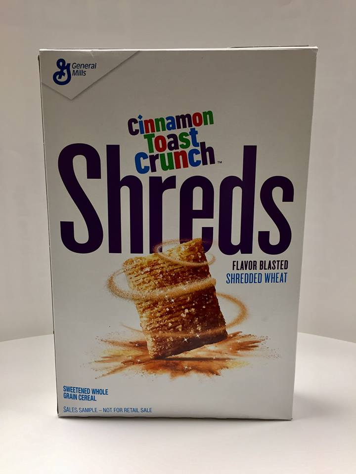 General Mills 2018 Cinnamon Toast Crunch Shreds Cereal Box
