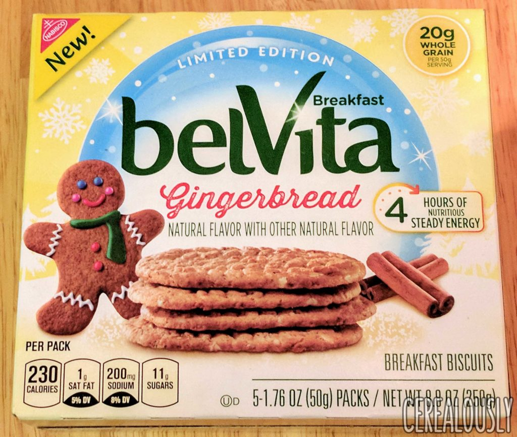 belVita Gingerbread Breakfast Biscuits Review Holiday Box