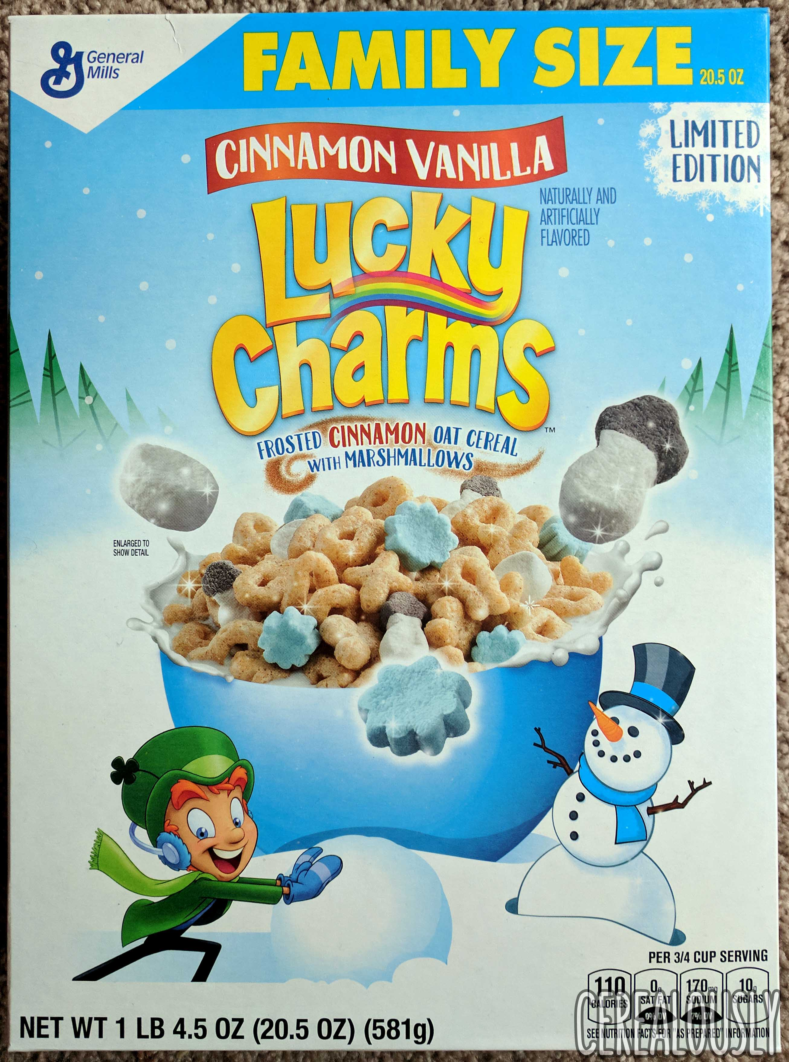 holiday review: cinnamon vanilla lucky charms cereal