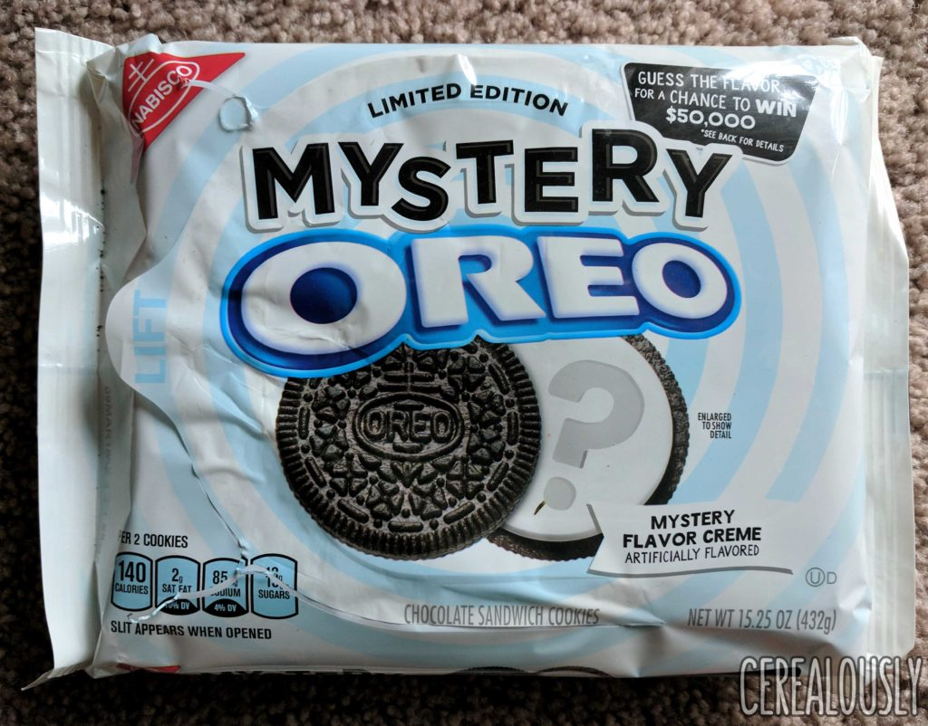 Nabisco Mystery Oreo Cookies Review Cereal Package