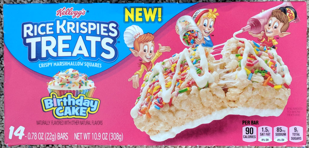 Kellogg's Birthday Cake Rice Krispies Treats Review Box