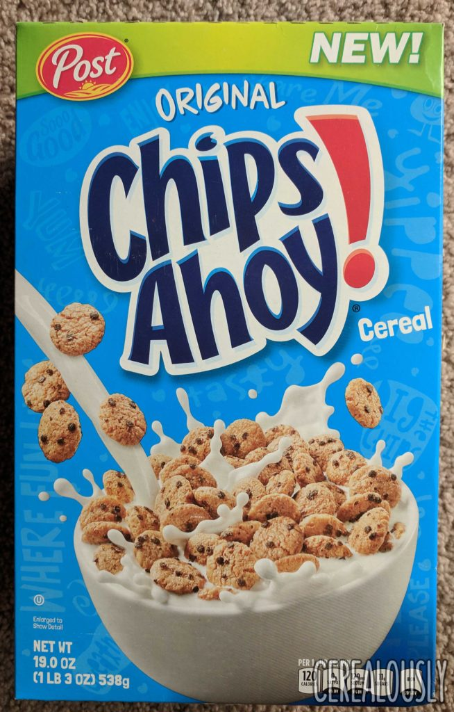 Post Chips Ahoy! Cereal Review Box