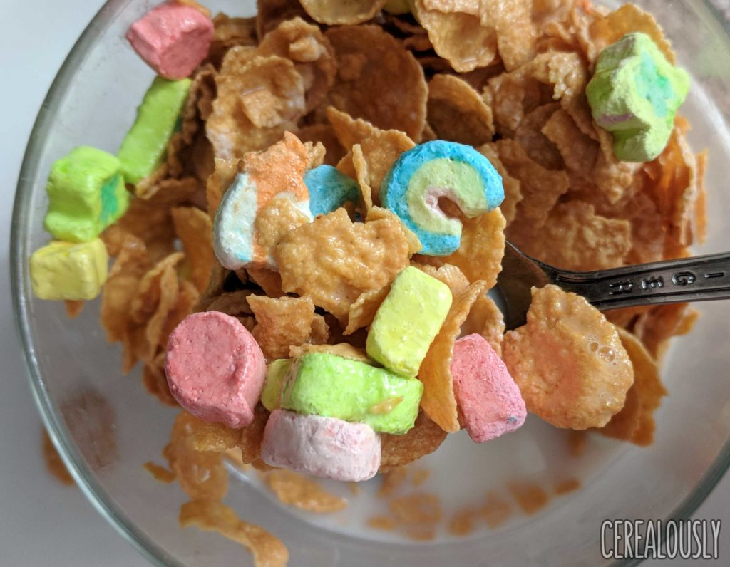 General Mills New Lucky Charms Frosted Flakes Review with Milk
