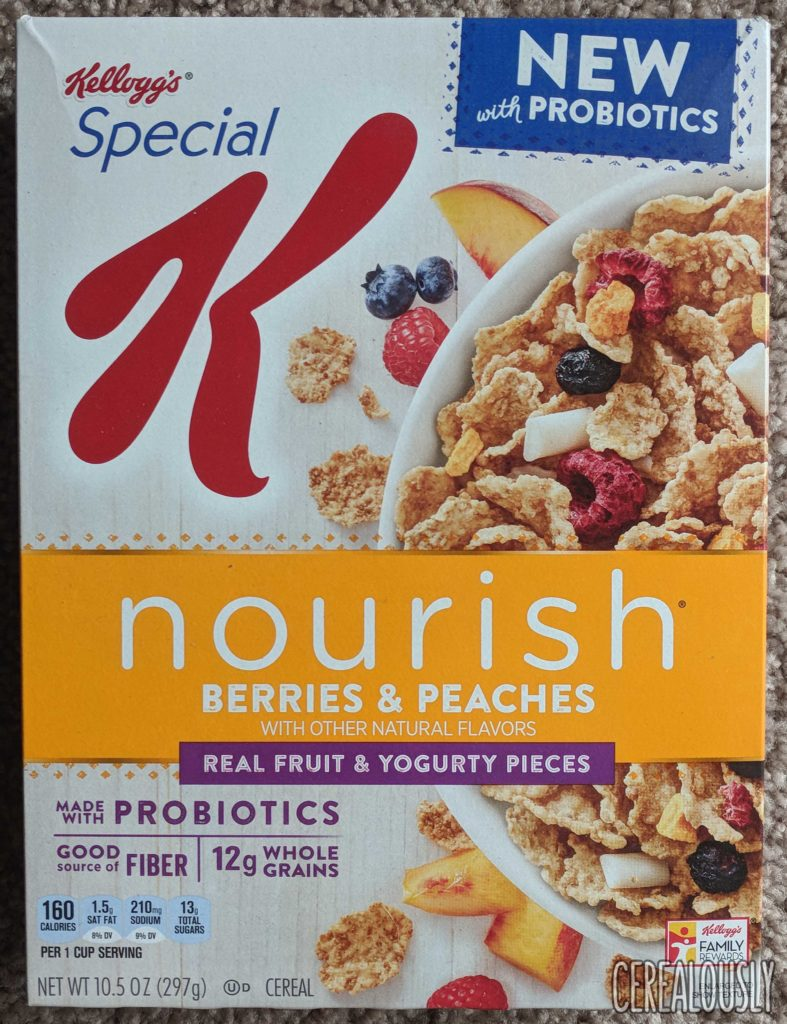 Kellogg's Special K Nourish Peaches & Berries Cereal Review Box