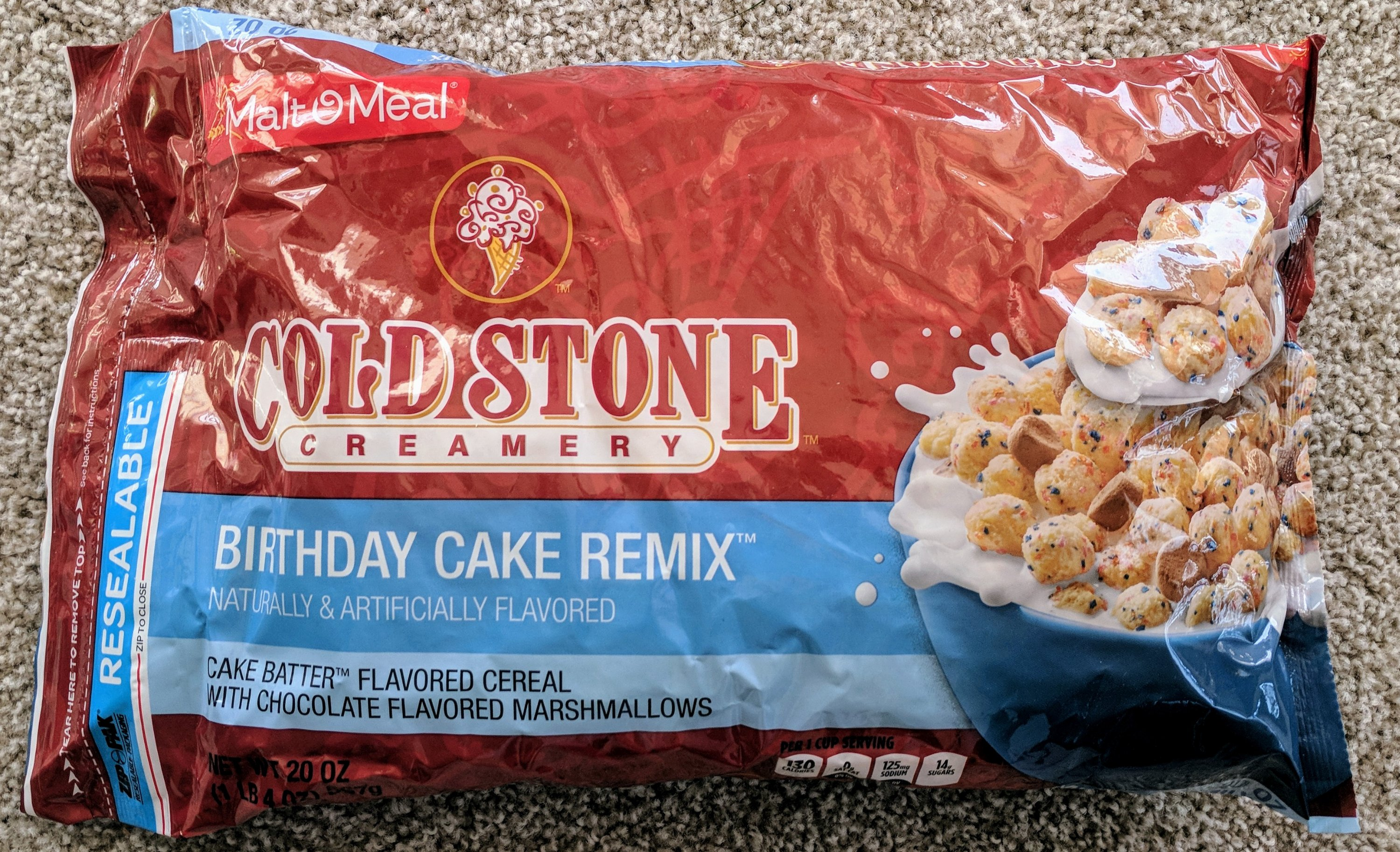 Review Malt O Meal Coldstone Creamery Birthday Cake Remix Cereal
