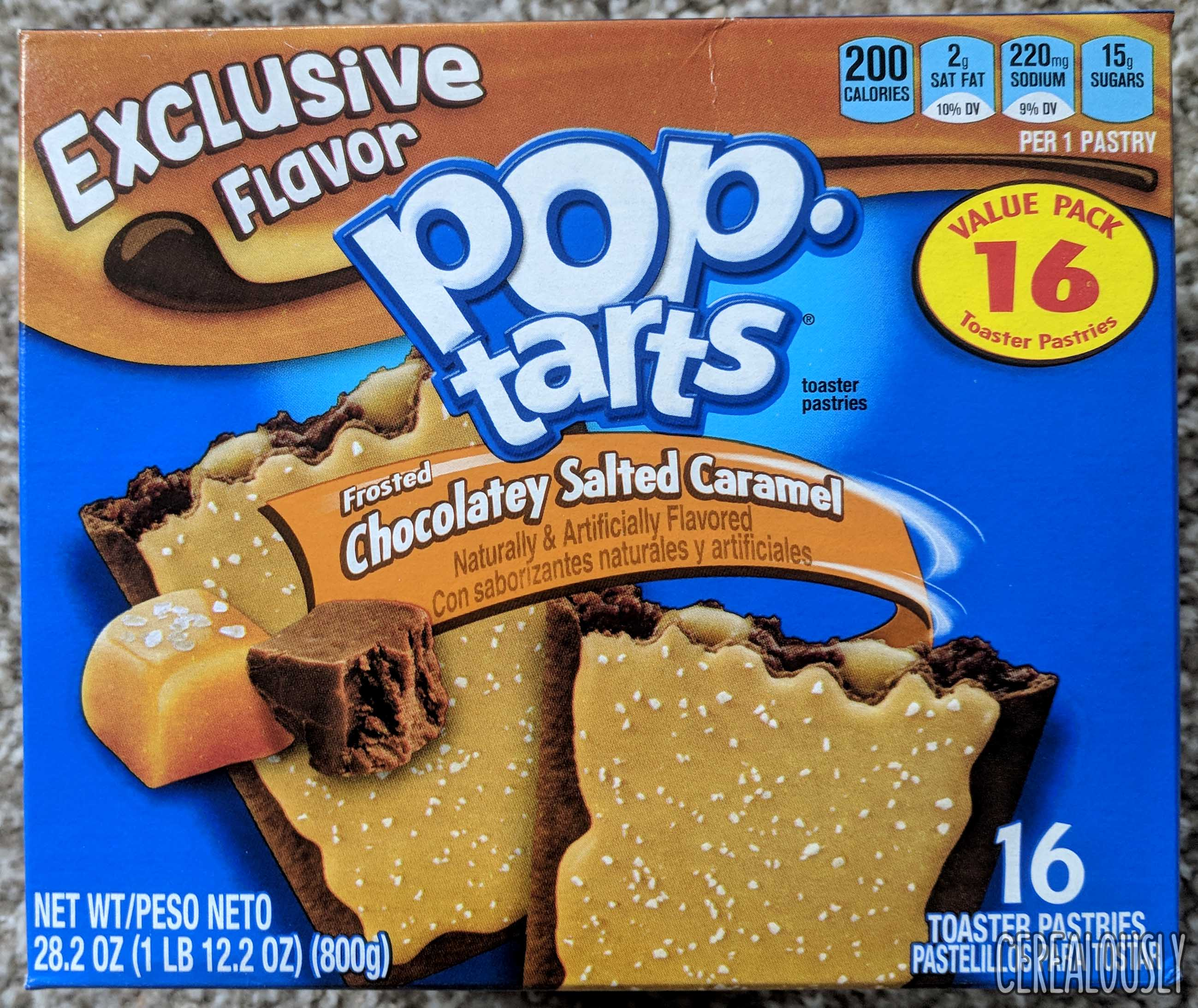 Kelloggs Chocolatey Salted Caramel Pop Tarts Review Box